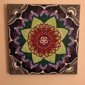 💜💚 Mandala Painting by Local Artist